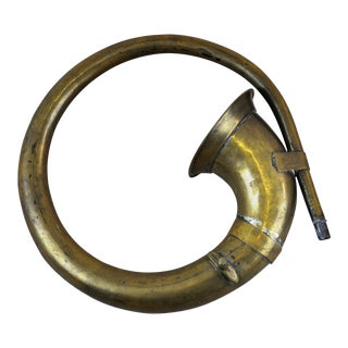 Antique Brass Car Horn, Rare and Collectible For Sale