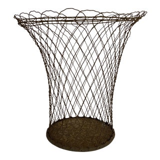 French Wire Wastepaper Basket For Sale