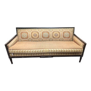 Mid-Century Belgian Needlepoint Sofa For Sale