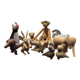 Kay Bojesen Wooden Danish Toys - Set of 10
