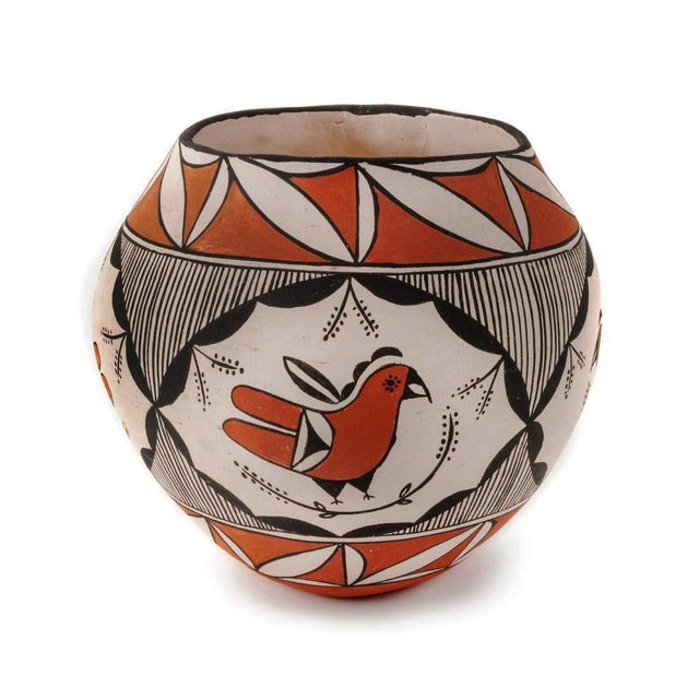 Southwestern Acoma Pueblo Polychrome Olla Parrot Jar For Sale - Image 13 of 13