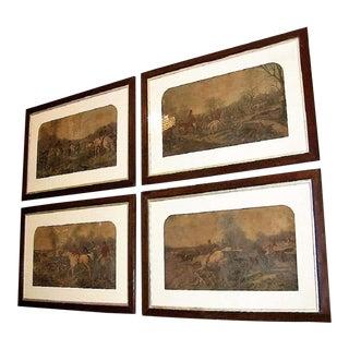 Original Hunting Scenes Engravings by John Frederick Herring Snr - Set of 4 For Sale