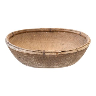 Mid 20th Century Vietnamese Harvest Basket For Sale