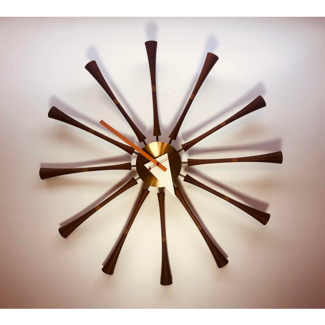 1960s George Nelson & Associates Spool Wall Clock Model 2239 For Sale - Image 5 of 8