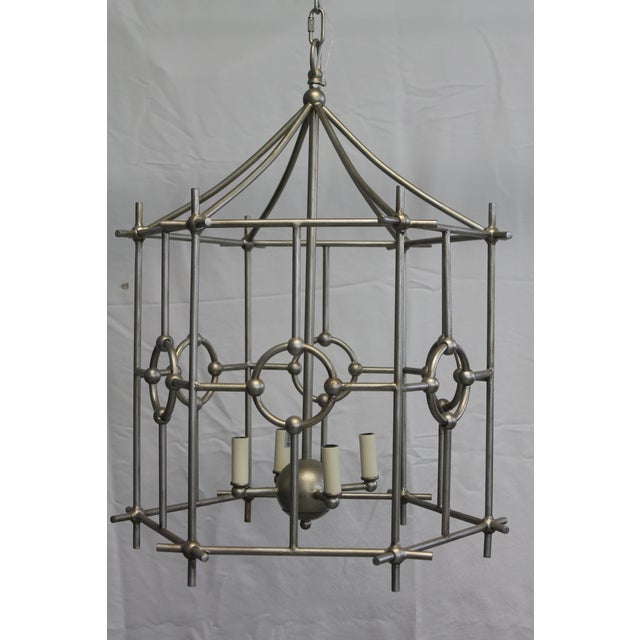 2010s Old World Design Chinoiserie Lantern For Sale - Image 5 of 5