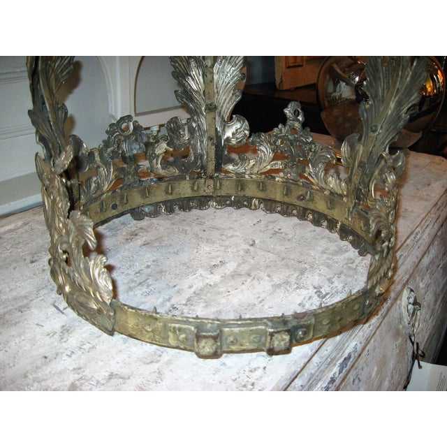 Metal 19th Century French Bed Corona For Sale - Image 7 of 10