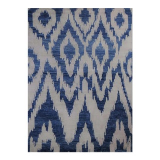 "Hand Knotted Ikat Rug - 8'4"" x 9'10"""