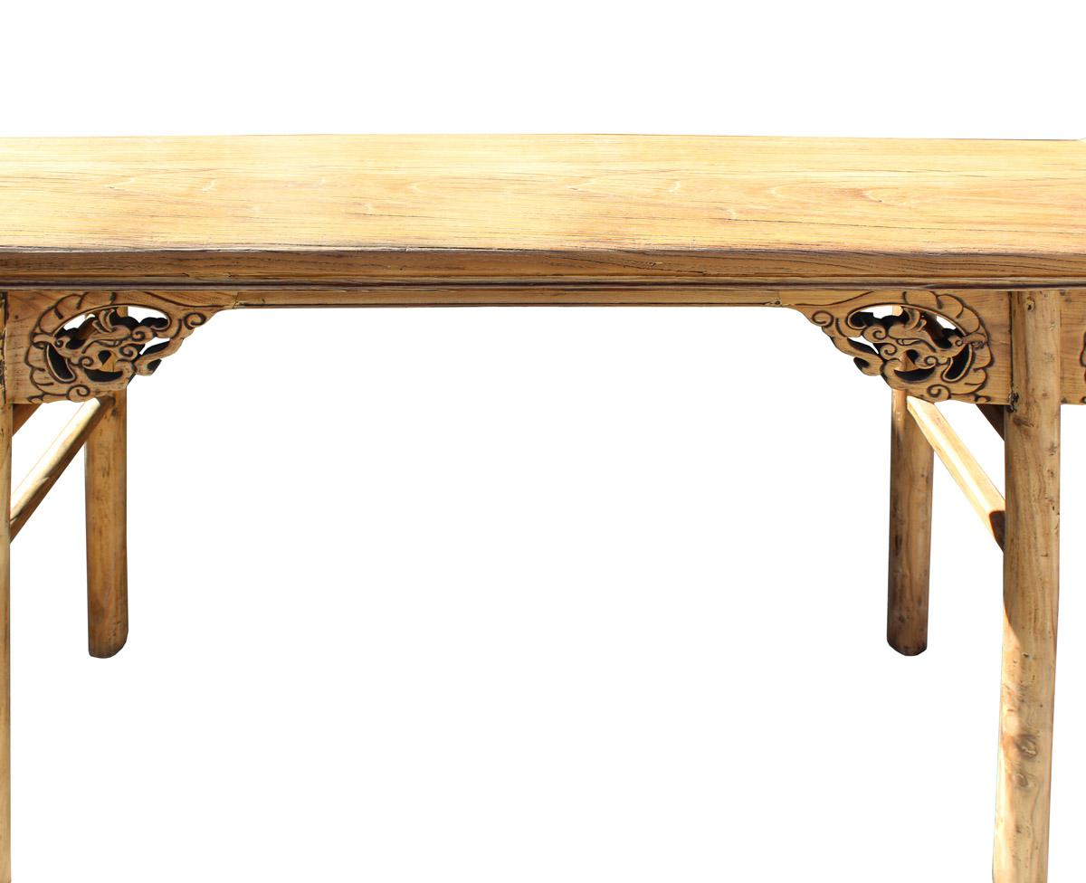 Attrayant Chinese Raw Wood Dragon Carving Altar Console Table For Sale In San  Francisco   Image 6