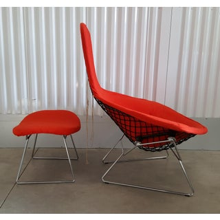 Vintage Mid Century Harry Bertoia Bird Chair and Ottoman Preview
