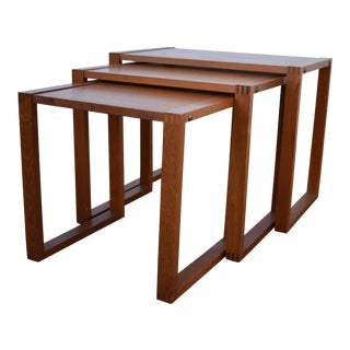 Mid-Century Danish Modern Nesting Tables - Set of 3