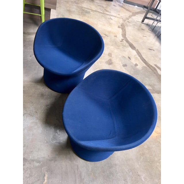 Avalon by Swedese Blue Circular Swivel Chairs - a Pair For Sale - Image 10 of 10