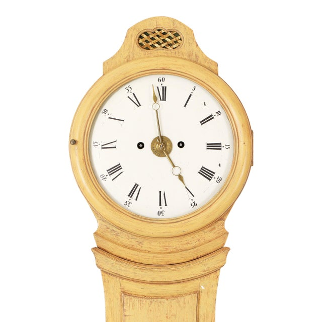Antique Swedish Mora Clock from the 1800's. Attractive face with roman numerals. Curved shape with very good proportions....