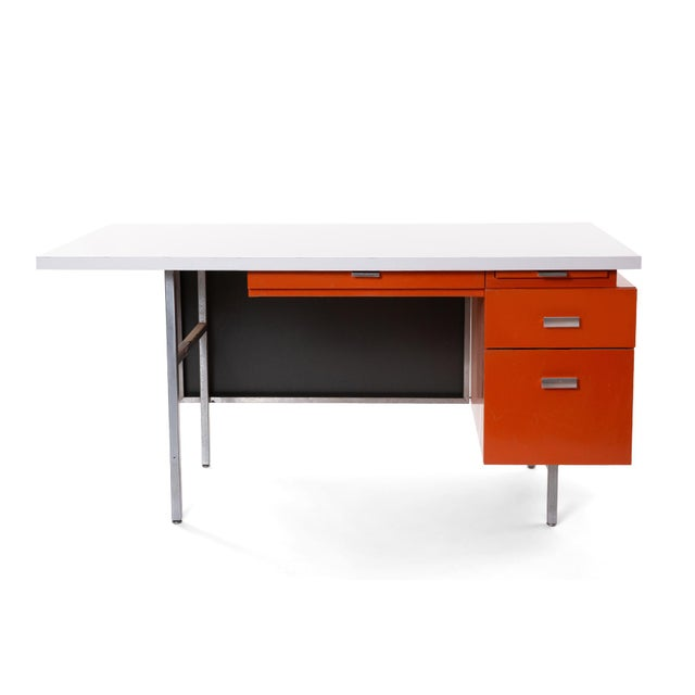 George Nelson for Herman Miller desk and credenza or return circa early 1960's. These all original seldom seen examples...