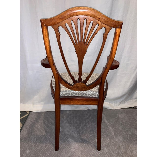 George Hepplewhite Hepplewhite Style Dining Chairs- Set of 10 For Sale - Image 4 of 13