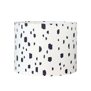 Modern Blue Spot Drum Lampshade For Sale