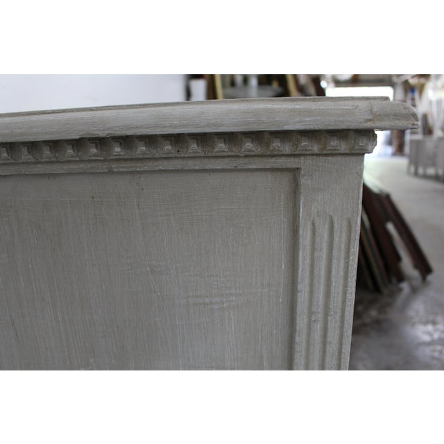 White 20th Century Vintage Swedish Gustavian Style Nightstands-A Pair For Sale - Image 8 of 10