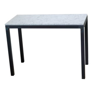Room & Board Parsons Marbled White Quartz Counter Table For Sale