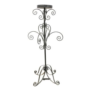 Large Transitional Iron Epergne Stand For Sale