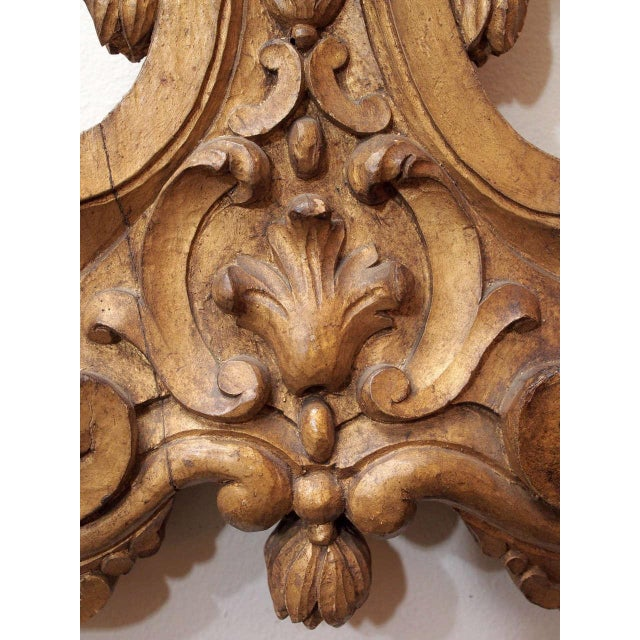 Giltwood Pair of Finely Carved and Gilded Wall Lights For Sale - Image 7 of 10