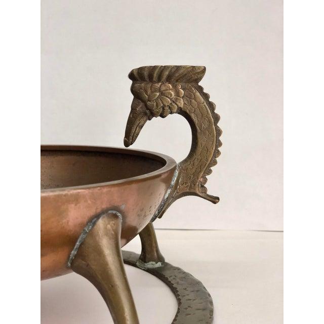 Oscar B Bach Art Deco Copper/Brass Ashtray, New York, Circa 1925 For Sale - Image 6 of 11