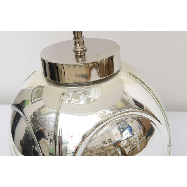 Metal Mid-Century Modern Polished Chrome & Mercury Glass Table Lamp Base For Sale - Image 7 of 10