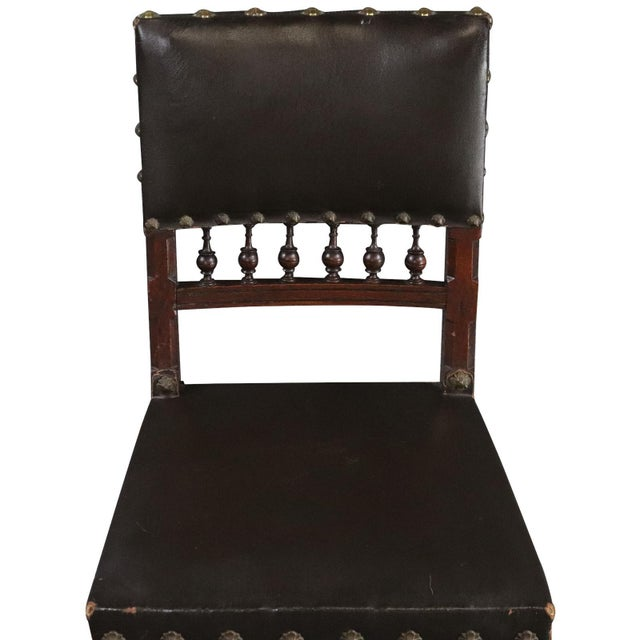 Dining Chairs Henry II Renaissance Walnut Brown - Set of 6 For Sale - Image 4 of 10
