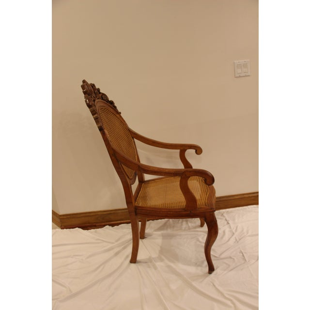 Vintage Carved Accent Chair - Image 4 of 11