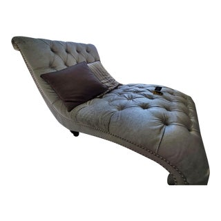 Mirage Silver Chaise & Throw Pillows For Sale