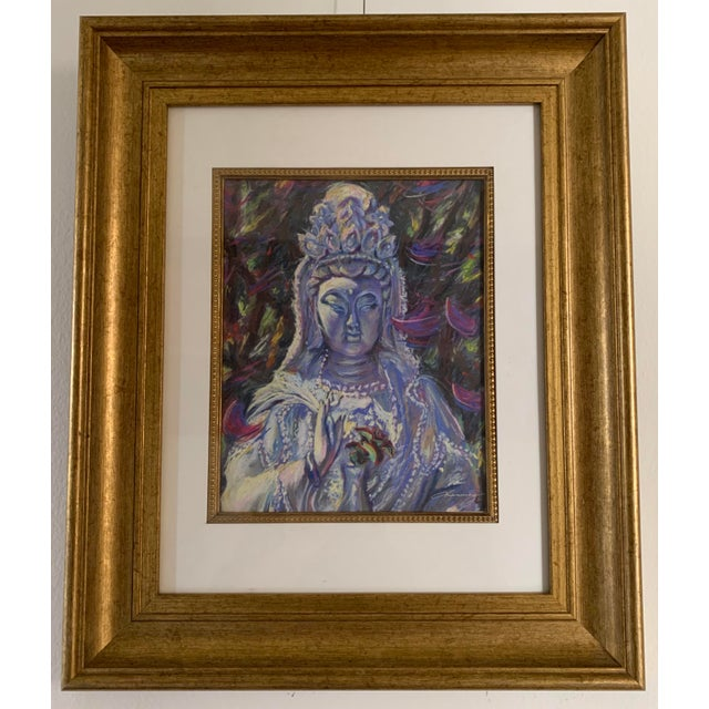 2000 - 2009 Michelle Manning Quan Yin Framed Artist Proof Print For Sale - Image 5 of 5