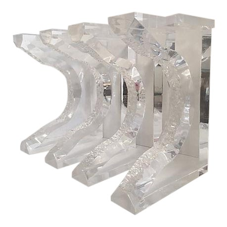 Hand Sculpted Lucite Bench Legs - Set of 4 - Image 1 of 8