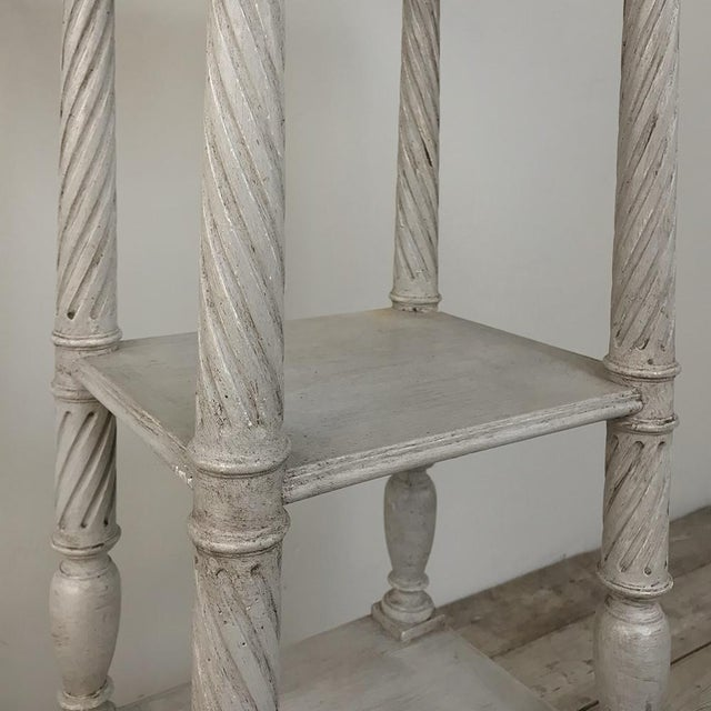 Wood 19th Century French Louis XVI Painted Pedestal For Sale - Image 7 of 13
