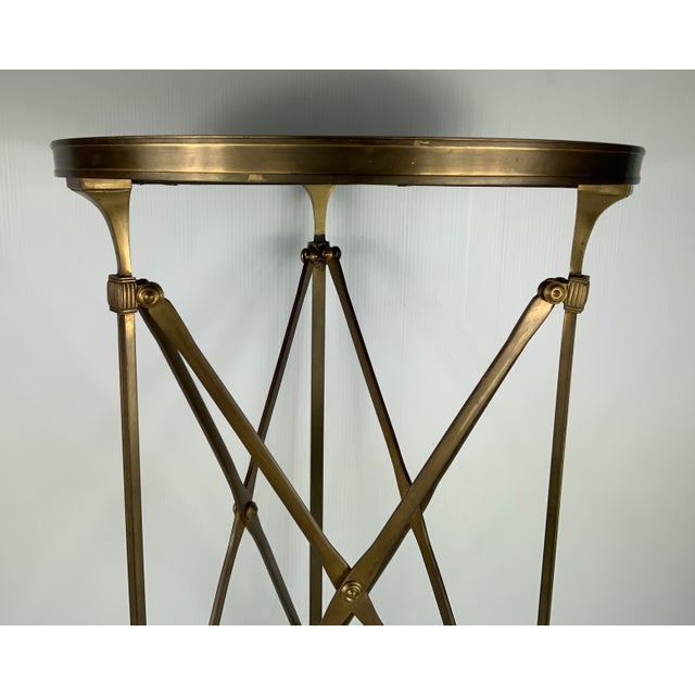 Brutalist Vintage French Maison Jansen Empire Bronze Side Table For Sale - Image 3 of 7