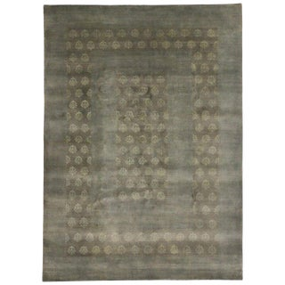 Indian Rug With Modern Transitional Style - 7′6″ × 10′4″ For Sale