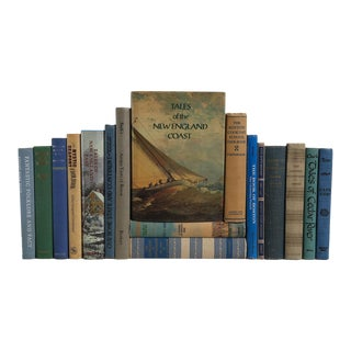 Midcentury Book Set: Tales of New England - Set of 17 Decorative Books