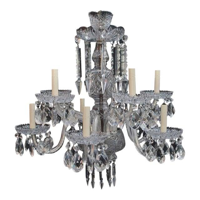 Art Deco Crystal Chandelier For Sale