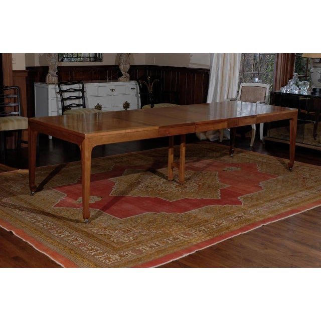 Excellent Breathtaking Vintage Baker Extension Dining Table In - Slender dining table