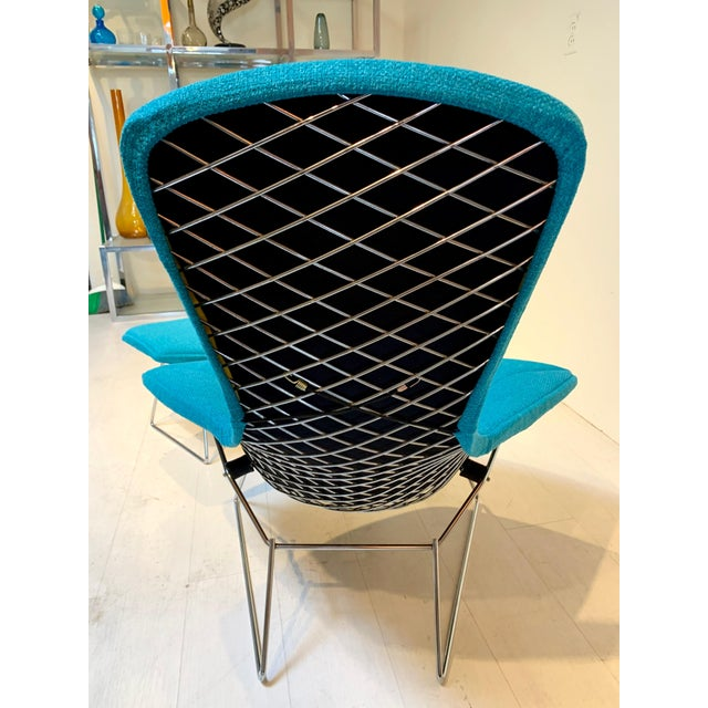 1950s Mid-Century Bird Chair and Ottoman Harry Bertoia for Knoll For Sale In Los Angeles - Image 6 of 8