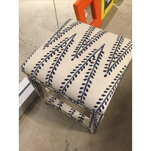 Custom Upholstered Lee Ottoman - Image 3 of 6