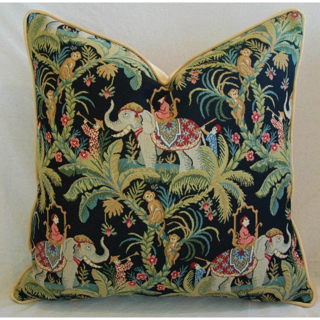 Custom English Tapestry Jungle Paradise Pillows - a Pair - Image 5 of 10