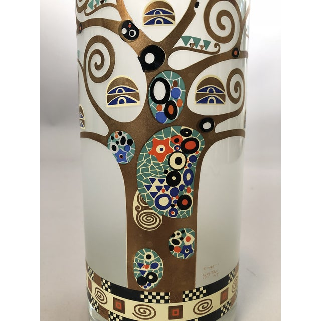 Gustav Klimt Gustav Klimt Glass Vase For Sale - Image 4 of 5