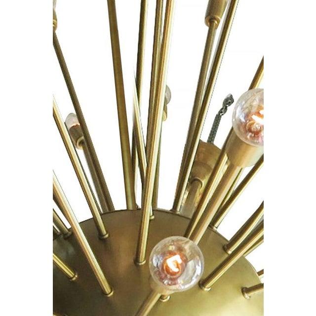 2010s Mid-Century Style Brass Sputnik Chandelier For Sale - Image 5 of 9