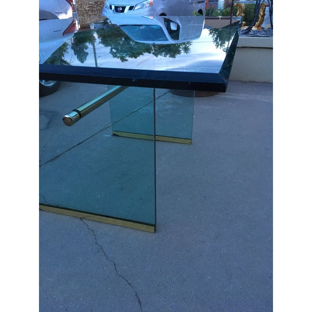 Glass and Brass Mid-Century Modern Dining Table by Pace For Sale In Denver - Image 6 of 13