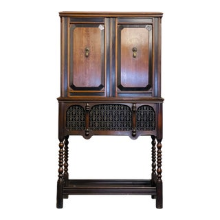 Antique 1928 Mahogany Electrola Cabinet For Sale