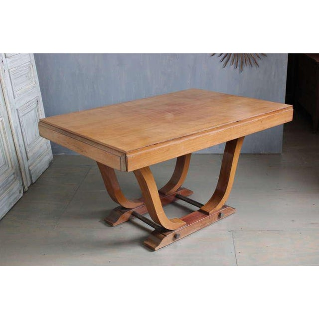 French 1940s Art Deco Style Rosewood Dining Table For Sale - Image 4 of 9