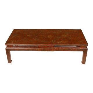 French Asian Style Lacquered Cocktail Table, circa 1950 For Sale
