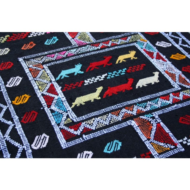 Abstract Expressionism Handwoven Moroccan Rug - 3′ × 4′6″ For Sale - Image 3 of 3