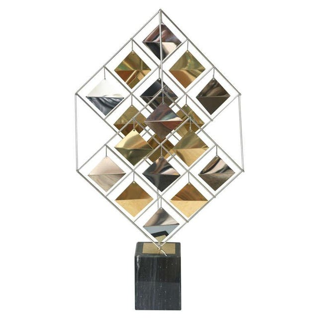 Brass and Chrome Sculpture by Curtis Jere For Sale - Image 11 of 11