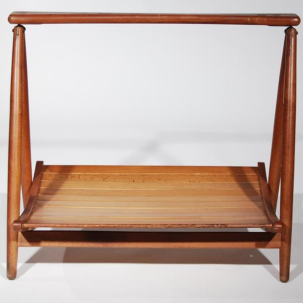 Teak Wood Magazine Tray Holder For Sale - Image 4 of 6