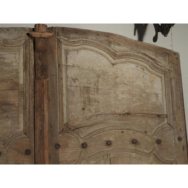 Traditional 1700s Antique French Oak Doors From Burgundy- A Pair For Sale - Image 3 of 13