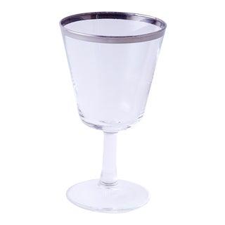Rare Dorothy Thorpe Silver Rim Wine Glass For Sale